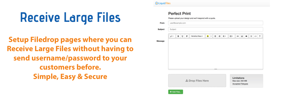 Receive Files Securely